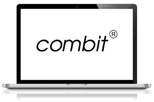 combit logo in a laptop