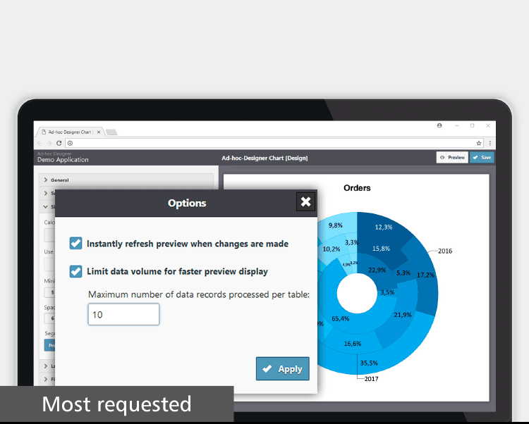 Requested Features in the Ad-hoc Designer