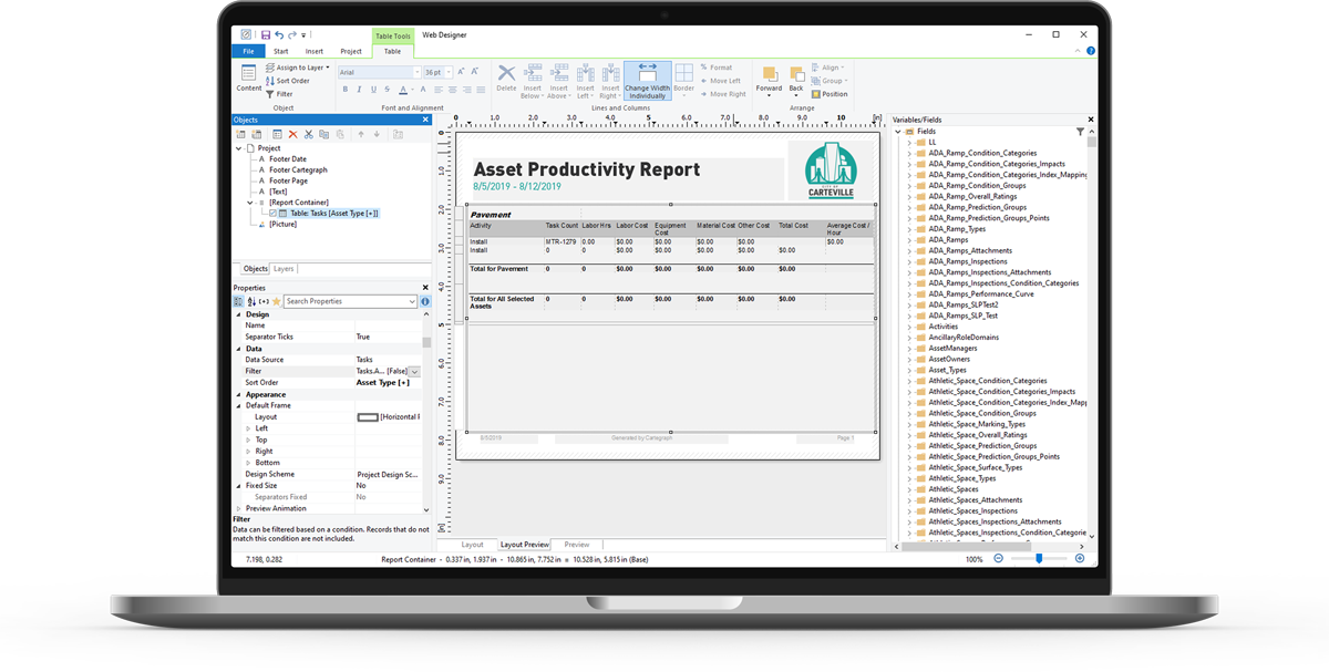 Creating reports with List & Label Report Designer