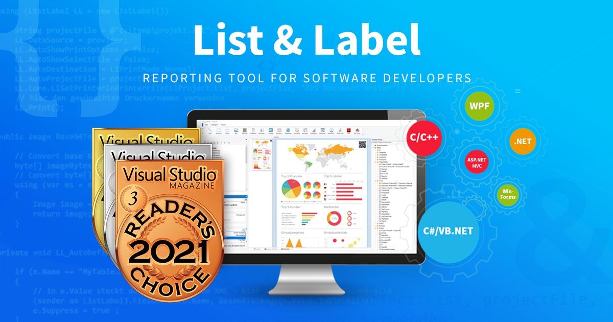 Visual Studio Readers Choice Award combit 2021