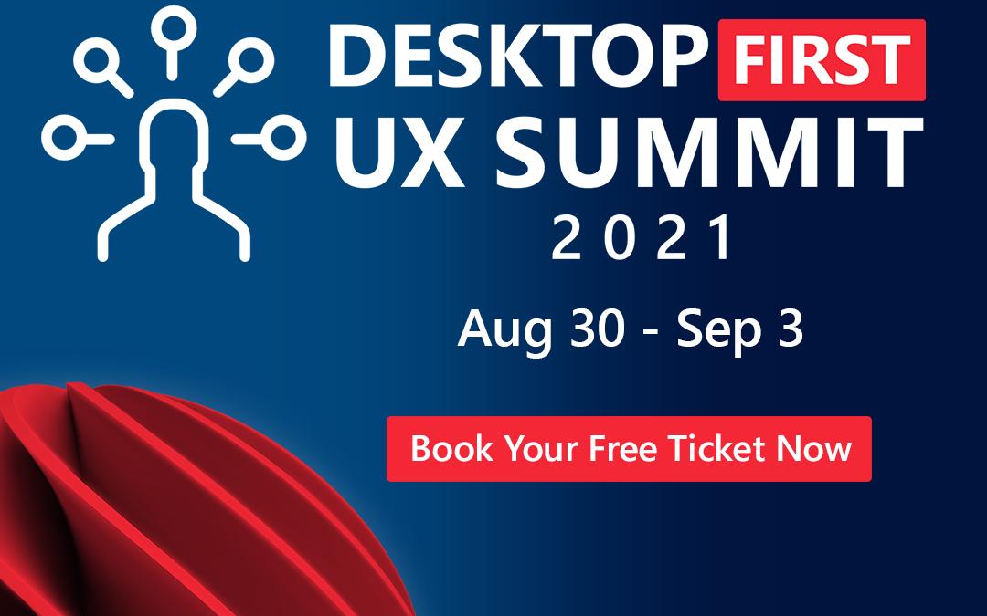 combit Sponsors the Desktop-First UX Summit 2021